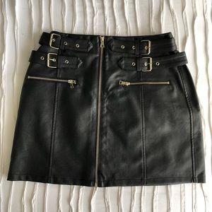 Topshop Moto Leather Skirt
